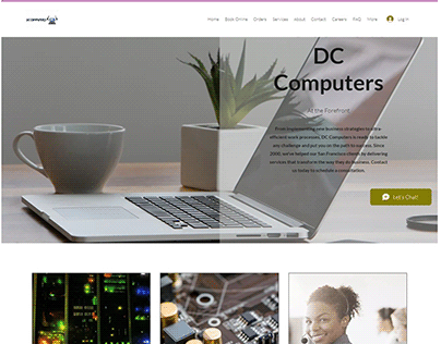 Web design for DC Computers
