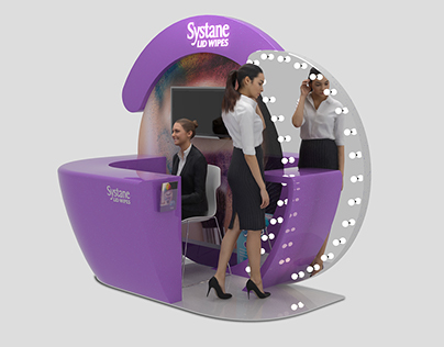 Systane Lid Wipes - Booth Design