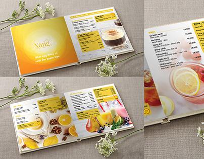 Template design menu Sunny Coffee