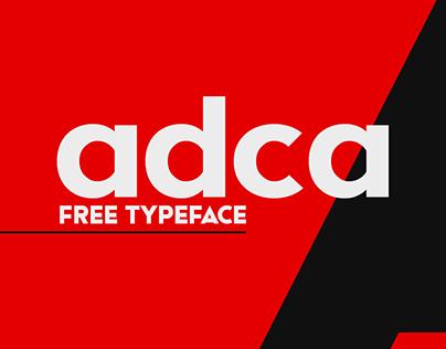 Adca | Free font