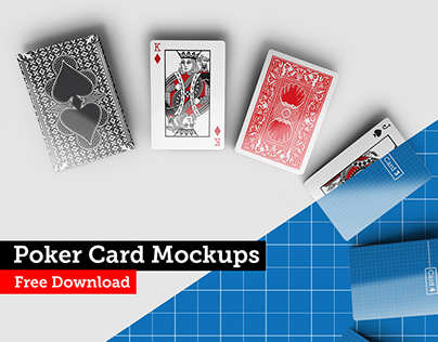 Poker card Mockups Free Download