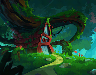 The Crooked Cottage Visual Development