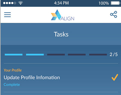 Align Project Management App Design