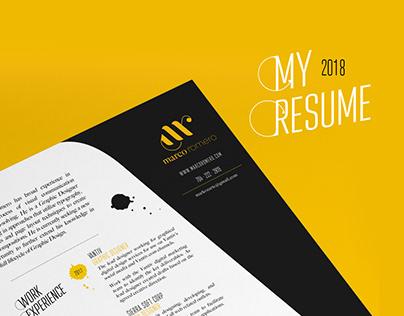 My 2018 Resume