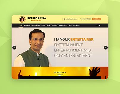 Website for Poet Sudeep Bhola