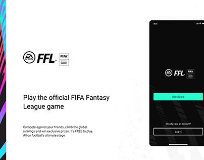 EA FIFA Fantasy League mobile app UI concept