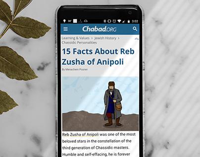 Custom Illustrations for Chabad.org