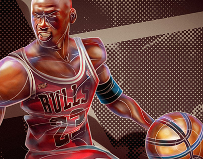 NBA all time players fan art