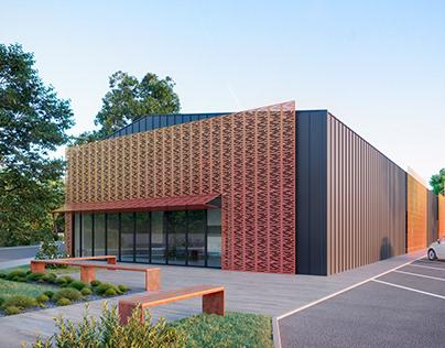 Perspective 3D - Projet de bureaux- Longwy, France