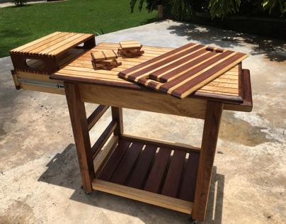 Handcrafted Bar Cart