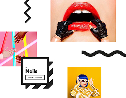Nails Inc Website Concept