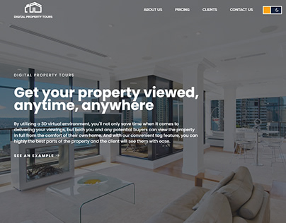 New Property themed website background