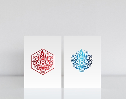 South Bohemian New Year Cards