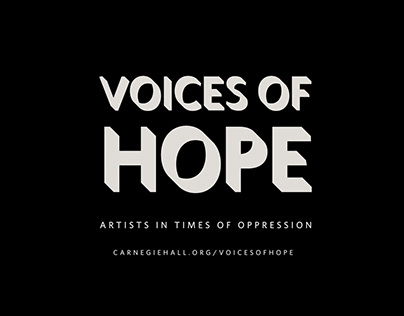 Carnegie Hall Voices of Hope