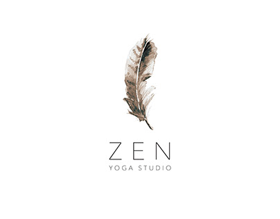 Watercolor Feather Logo