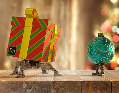 Adobe Dimension Holiday Bots
