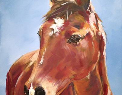 Portraitof a beautiful fulvoushorse