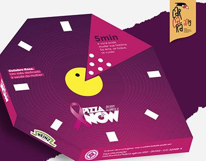 Embalagem Outubro Rosa - Pizza Now