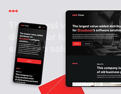 Tricise – Branding & UI design