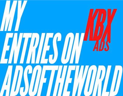 My AdsOfTheWorld Entries