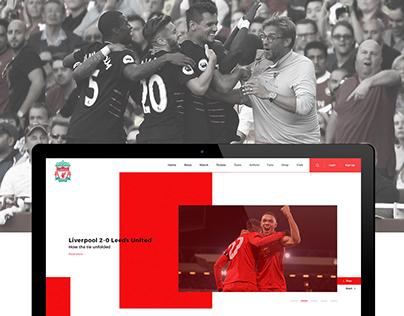 Liverpool FC (Website redesign)