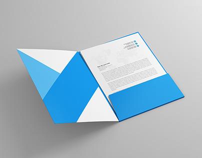 A4 Folder & Paper Mock-Up