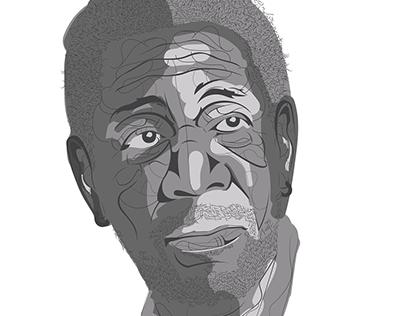 Morgan Freeman- Portrait
