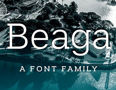 Beaga / slab serif font family