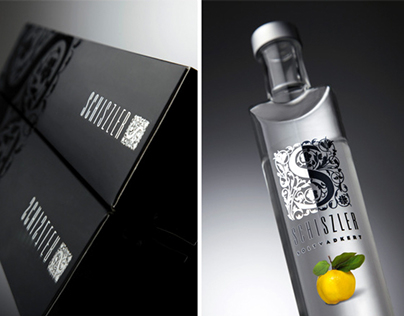Schiszler Pálinka bottle and brand identity design