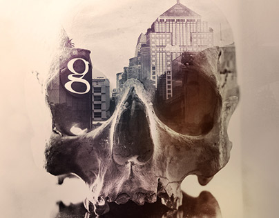 Double Exposure - Bangkok Skulls