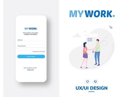 My Work App - UX UI Design