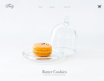 Foody - Minimal website design
