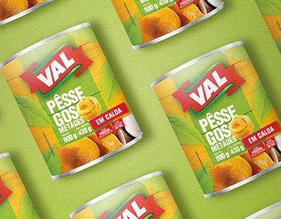 Embalagem Pêssegos em Calda Val