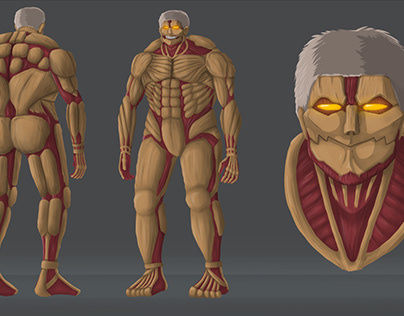 Concept art of Armored Titan from Attack on Titan anime