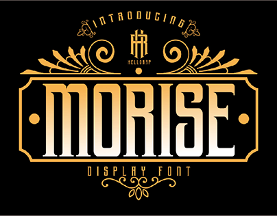 morise (morning rise) display font