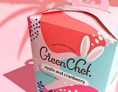 VeganEaster cakesdesignpackaging branding identity