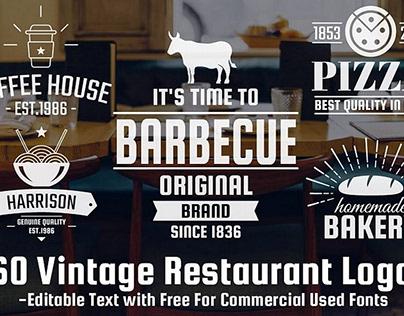 60 FREE Logos: Vintage Logo Set