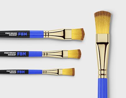 Free paint brushes mockup