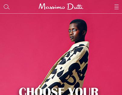 Massimo Dutti Online Store App Design