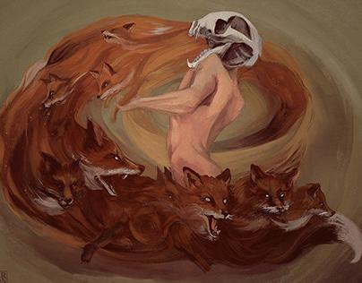 Fox demons invasion