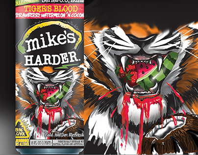 Mikes HARDER: Tiger Blood Can Designs
