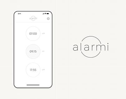 Alarmi concept app