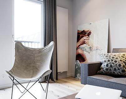 Lodz White Apartment
