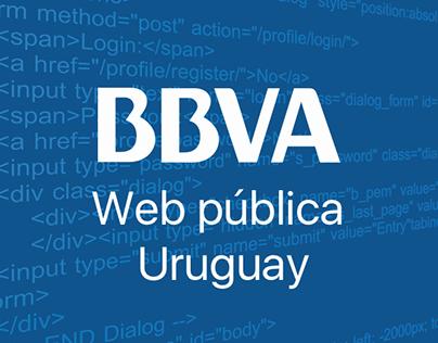 Web pública BBVA Uruguay