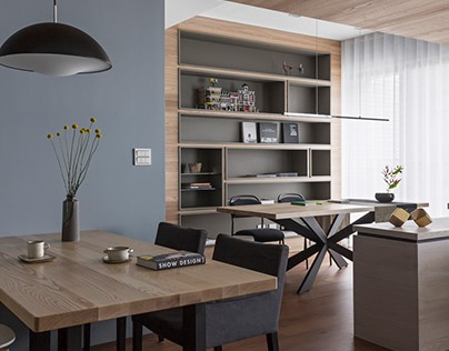Quiet lake blue in Taiwan by HOZO interior design