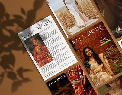 PUBLICATION- magazine (KALA MODE)