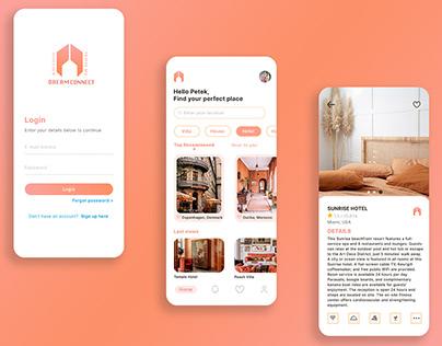 Dream Connect Booking Design