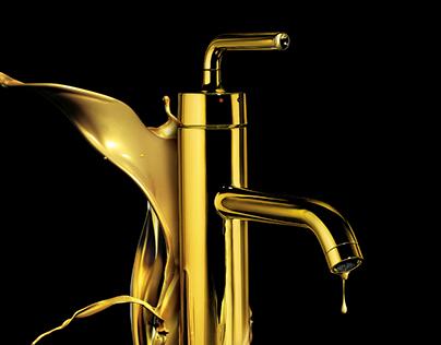 KOHLER - Melting gold vibrant series