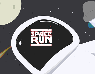 Space Run - graphic concept for a video game