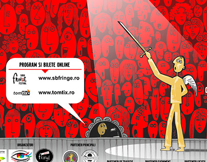 Poster layout for Sibiu Fringe Festival 2015